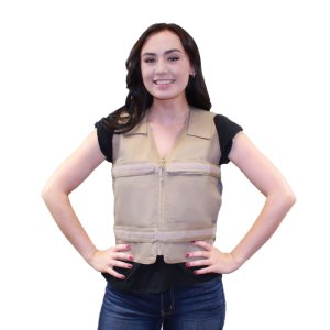Adjustable Zipper Cooling Vest with (4) Long Kool Max® Pack Strips