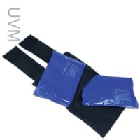Soft ice medium universal joint compression wrap with two soft ice 6 x 9 inch cold/hot packs